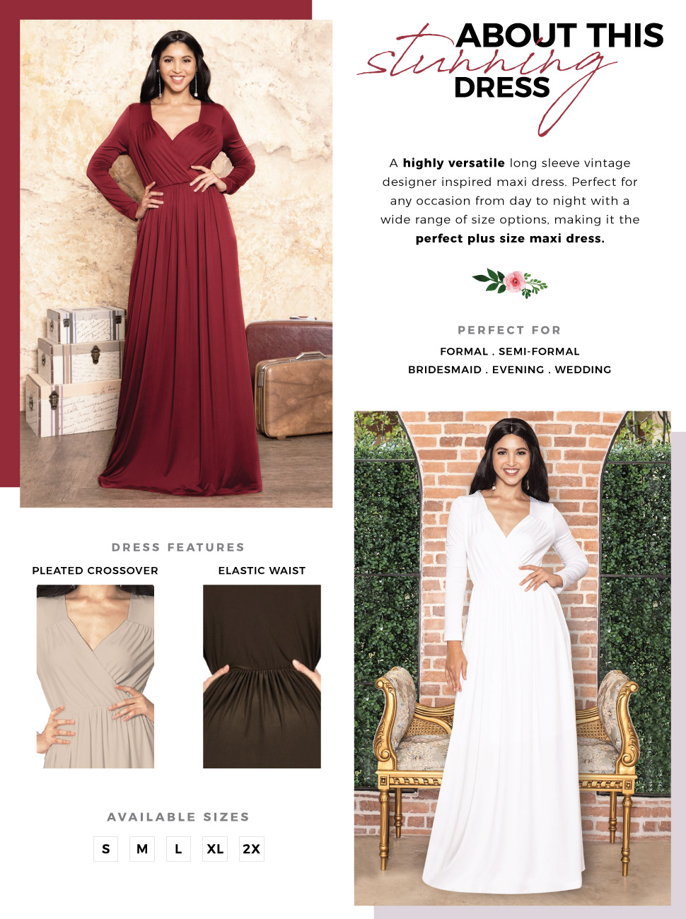 ad3b61d0e2ba A highly versatile women's long sleeved floor length maxi dress design from  Koh Koh. Dress this simple but stunning ladies design up or down and it  will ...